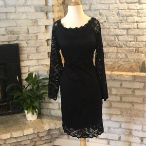 Maurices black lace dress